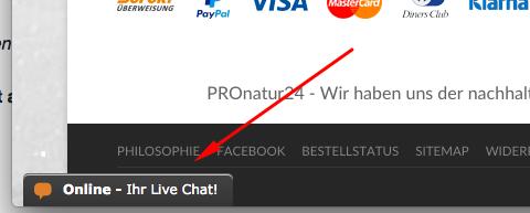 Live-Chat für schnelle Hilfe