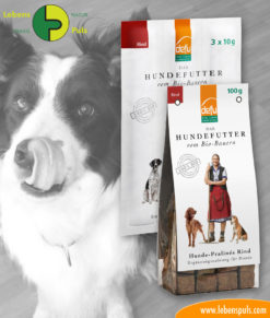 defu BIO dog snacks: chewing sticks and pralines