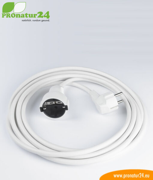 Shielded extension cable, 5 meters, white