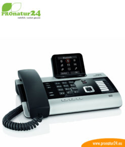 GIGASET DX800A telephone, wired, low-radiation ECO DECT +, ISDN, VoIP, answering machine
