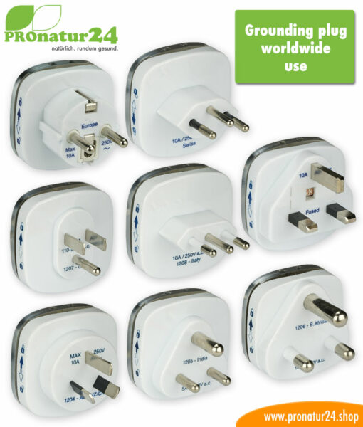 Grounding plugs for worldwide use