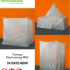 Canopy electrosmog PRO with silver tulle shielding fabric, 14 days testing
