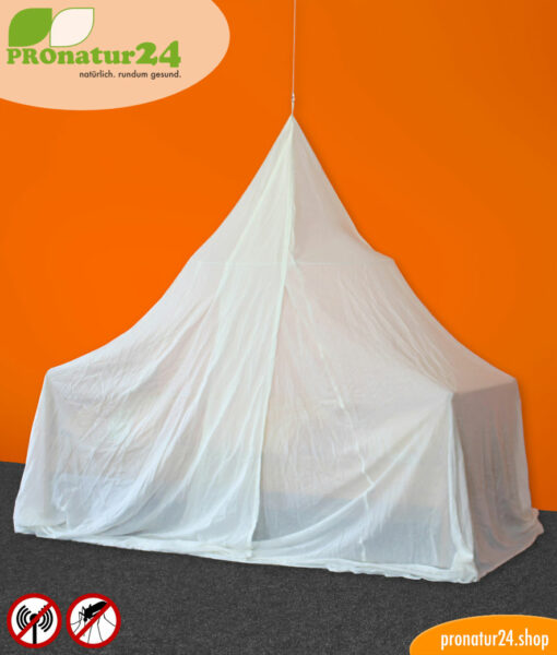 Canopy Electrosmog WIFI for protection from HF electrosmog - pyramid bed