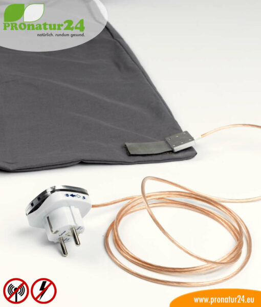 Sleeping bag TSB electrosmog PRO – all-inclusive SET. A great addition for HF electrosmog (up to 35 dB) and LF protection for out and about!