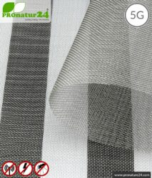 Stainless steel gauze V4A03 with shielding up to 50 dB against HF electrosmog. Groundable. Ideal for exterior walls. Effective against 5G!