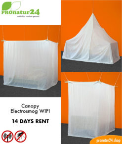Canopy electrosmog WIFI with naturell shielding fabric, 14 days testing