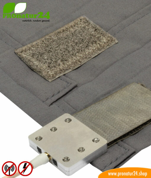 Bed linen TBL with HF electrosmog attenuation (up to 35 dB) and LF attenuation, can be grounded