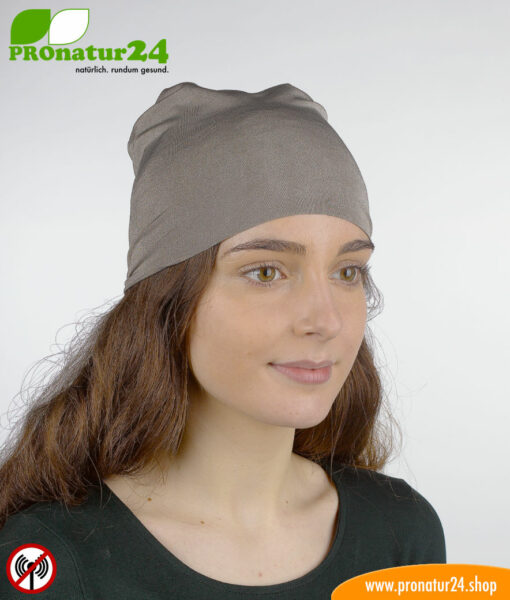 Shielding helmet/headscarf/headgear TKE against electrosmog from radio (mobile radio, WLAN, LTE…)