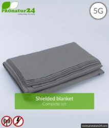 Shielding blanket TDG Set all inclusive. Protection against HF electrosmog up to 41 dB (WLAN, mobile phone). Earthable. Effective against 5G!