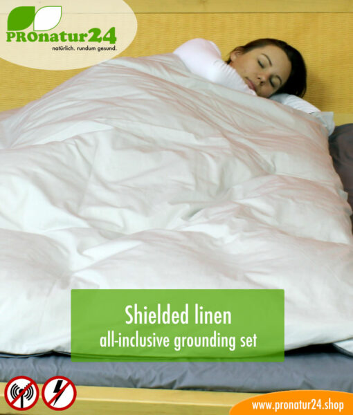 Shielding linen TBL with HF attenuation (up to 35 dB) and LF attenuation – all-inclusive SET