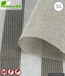Screening fabric SILVER TULLE for curtains and canopies. HF shielding up to 50 dB, LF groundable. Effective against 5G!