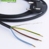 Shielded cable with shockproof plug and free end, black