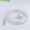 Shielded cable with shockproof plug and free end, white