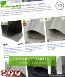 SHIELDING TEST SAMPLES - up to 3 material samples free!