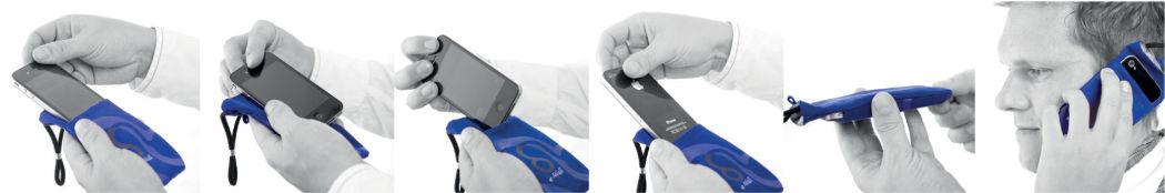 Anwendung der Handyhülle Handtasche mit Strahlenschutz