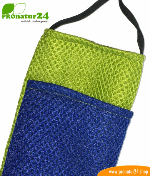 Cell phone cover and case eWall with radiation protectio, 3-in-1 function, reversible, green-blue