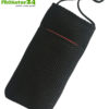 Cell phone cover and case eWall with radiation protection, 3-in-1 function, reversible, black-red