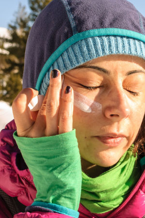 Remember sun protection in winter. High UV radiation!
