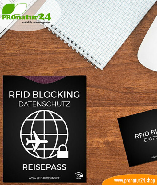RFID NFC protective covers / data protection for credit cards, identity cards, EC cards, bank cards, and passports