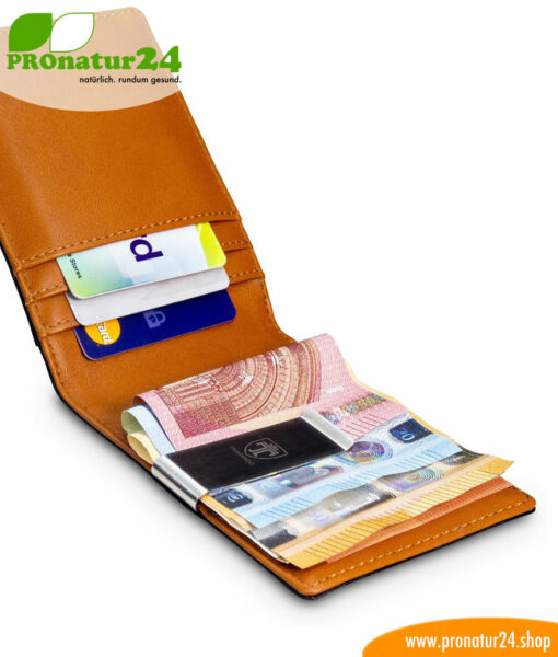 Wallet with RFID NFC protection included for credit cards, EC cards, etc. For men and women