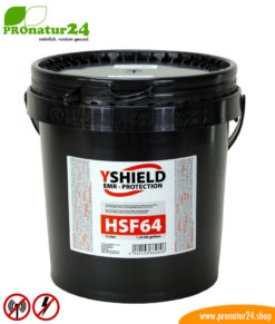 HSF64 shielding paint, HF attenuation of up to 46 dB, LF grounding mandatory. Ecological compromise by YSHIELD.