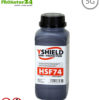 HSF74 shielding paint by YSHIELD, HF attenuation of up to 45 dB, LF grounding mandatory. Without preservatives. 5G ready!