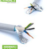 (N)HXMH(St)-J shielded electric cable. Halogen- and plasticizer-free BIO electric cable to protect against electric waves.