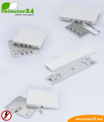 Stationary grounding plates for grounding shielded surfaces. Indoor rooms and outdoors.
