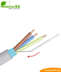 Insulating tube for the ground wire of the shielded electric / sheathed cable
