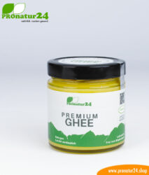 PREMIUM GHEE. Ayurvedic clarified butter made out of 100% hay milk (AT pasture grazing certified). Perfect for low-carb and ketogenic diets.
