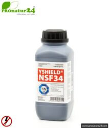 Shielding paint NSF34   LF Shielding up to 40 dB. Protection against low-frequency electrical fields (domestic electricity).   TÜV SÜD certified   Grounding necessary.