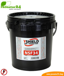 NSF34 shielding paint by YSHIELD with LF attenuation of up to 40 dB. Protection against low-frequency electric fields (power supply).