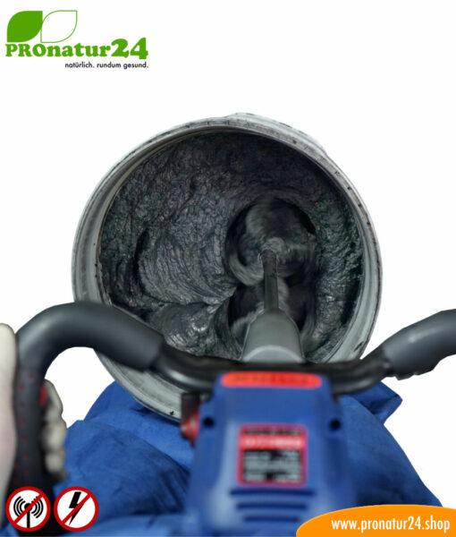 DRY69 powdered shielding plaster by YSHIELD. HF attenuation of up to 70 dB. LF grounding mandatory.