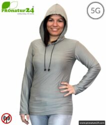 Shielding Hoodie / Hoodie. Protection up to 50 dB against HF electrosmog (mobile phones, WIFI, LTE). Effective against 5G!