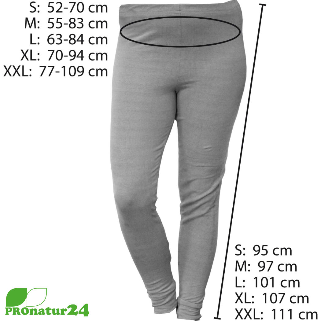 Shielding trousers / underpants size charts