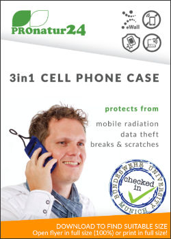 eWall cell phone case flyer