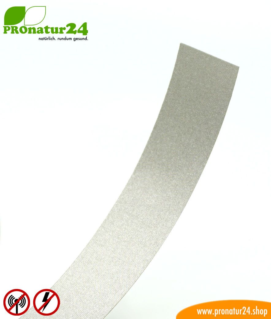 Self-adhesive ground strap EB2 with strong, non-conductive glue for under  shielding paint and shielding mesh  HF and LF  10 meters in length