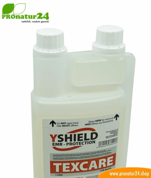 TEXCARE liquid detergent from YShield. Specially developed for shielding fabrics.