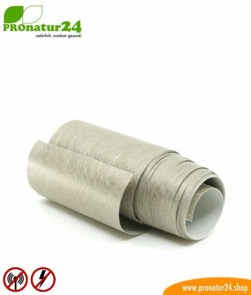 Self-adhesive shielding fleece EB3 with conductive adhesive for shielding and shielding fabrics. Width 10 cm. HF and LF.
