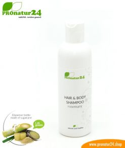 SHAMPOO rosemary. Hair & Body Shampoo with rosemary and nettle extract. Showering redefined incl. sustainable packaging.