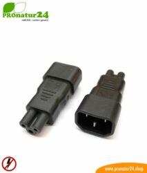 Adapter C13 cold appliance connection cable on three pole C5 (Laptop Class)