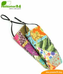 Cell phone case eWall for iPhone, Samsung, Huawei, etc. with electrosmog protection including 5G. 3in1 function incl. RFID data protection. Unique flower power design!