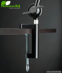 Mounting / fixing of the shielded desk lamp and workplace lamp. DESIGN BLACK.