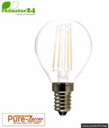 LED bulb filament Pure-Z-Retro BIO LIGHT, matt, E14, 3 Watt, 300 lumen, warm white (2700 K). Corresponds to 30 Watt light output.