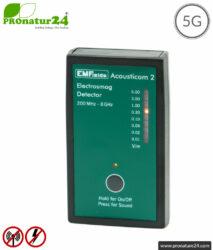 ACOUSTICOM 2 Electrosmog Detector | Broadband Measuring Device for Electrosmog HF | Detection of EMF radio radiation up to 8 GHz, including 5G. Entry level device!