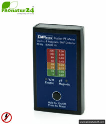 Pocket PF Meter | Low frequency measuring device for electrosmog LF | Detection of electric and magnetic fields. 15 to 50,000 Hz. Potential-free measurement.