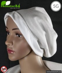 ANTIWAVE shielding cap Beany   Protection against electrosmog HF with efficiency >99,9 % (cell phone, WIFI, LTE)   5G ready!