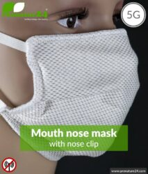 ANTIWAVE MNP protection mask with nose clip for mouth and nose | shielding material with silver for antibacterial effect | 3x maximum in hygiene, effect and wearing comfort. +Protection against electrosmog!