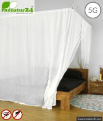 Shielding canopy Electrosmog WIFI | DOUBLE BED (GRAND KING SIZE) | Shielding RF radiation (cell phone, WIFI, LTE, ...) up to 99.97% (38dB). 5G ready!