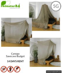 TEST! Shielding canopy Safecave Budget 14 days risk-free rental (€ 298 + deposit) | 99.99% shielding effect electrosmog RF (up to 47 dB screening attenuation) | groundable LF